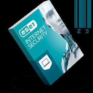 لایسنس 25 کاربره یک ساله ESET INTERNET SECURITY 13 اورجینال