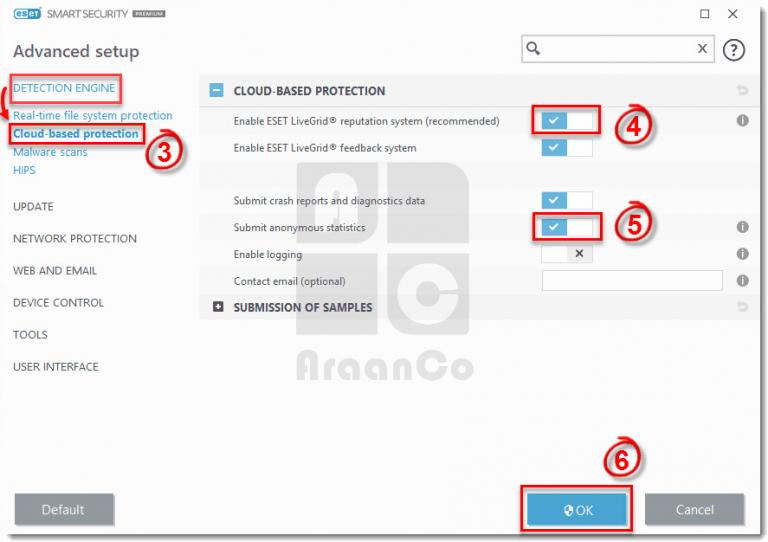 فعال یا غیر فعال کردن ESET LiveGrid در نود 32 ویندوز