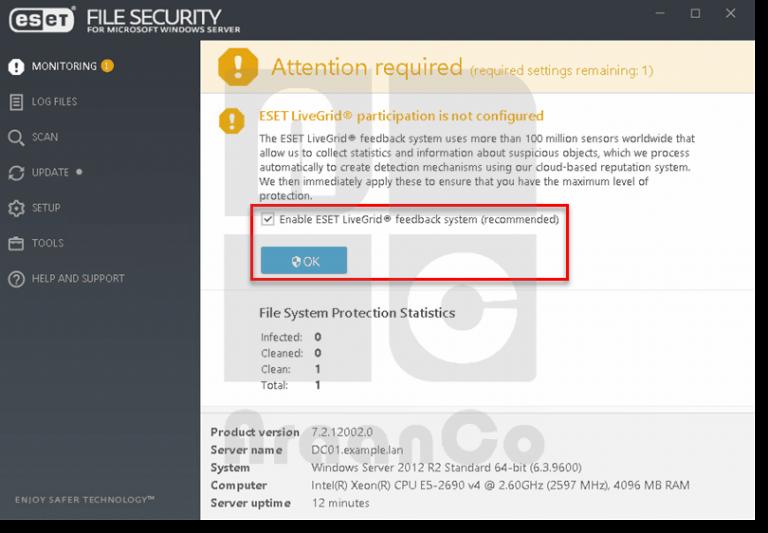 قابلیت LiveGrid در فایل سکیوریتی