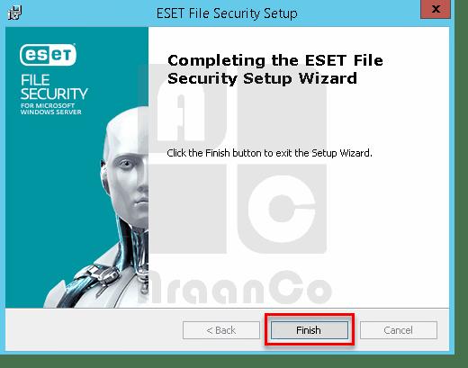 پایان نصب فایل سکیوریتی